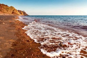 Silver and Red Beach of Hormuz