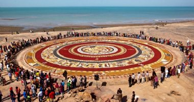 More information about World's largest soil carpet in Hormoz Island
