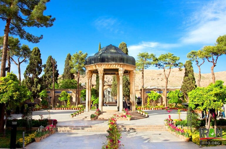 The Tomb of Hafez and its associated memorial hall, the Haafezieh, are two memorial structures erected in Shiraz, in memory of the celebrated Persian poet Hafez.