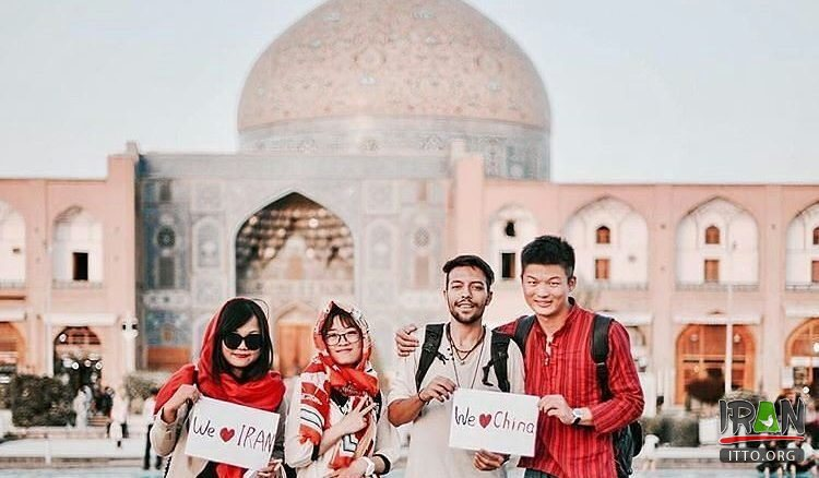 Chinese tourists in Isfahan