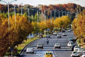 Autumn, Tehran Highway, Iran