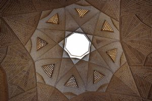 A dome of the Shah Abbassi caravanserai - Maybod