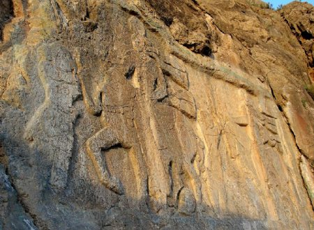 Khan Takhti rock relief - Salmas