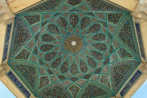 Ceiling of the pavilion - Hafezieh: Tomb of Hafez - Shiraz