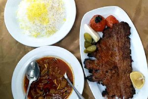Khoresh Khalal and Dandeh Kebab- Kermanshah Traditional Food