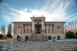 Royal Palace of Afif-Abad Garden in Shiraz