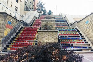 Colorful Stairs of Vali-e-Asr Street