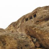 The rock tomb of Fakhrigah near Mahabad