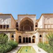 An exterior view of the Abbāsi House and its central courtyard - Kashan