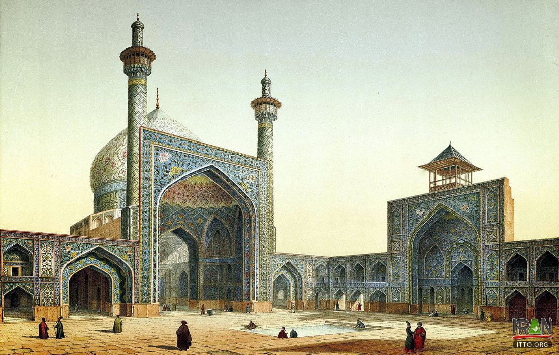 Imam Mosque (Shah Mosque) - View of the courtyard