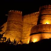 Night view of Falakol Aflaak Castle - Khoramabad