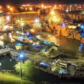 Night view of Shushtar Hydraulic System