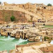 Panorama view of Shushtar Historical Hydraulic System - Khuzestan Province