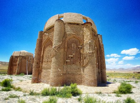 Seljuk era Kharaqan Towers near Qazvin