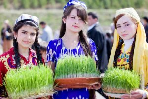 Tajik Girls celebrating nowruz