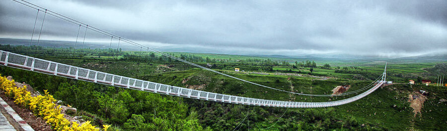 tallest suspension bridge in Meshgin shahr